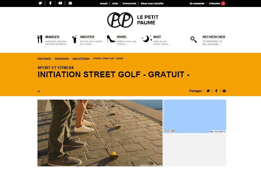Article Le petit Paumé lyon street golf