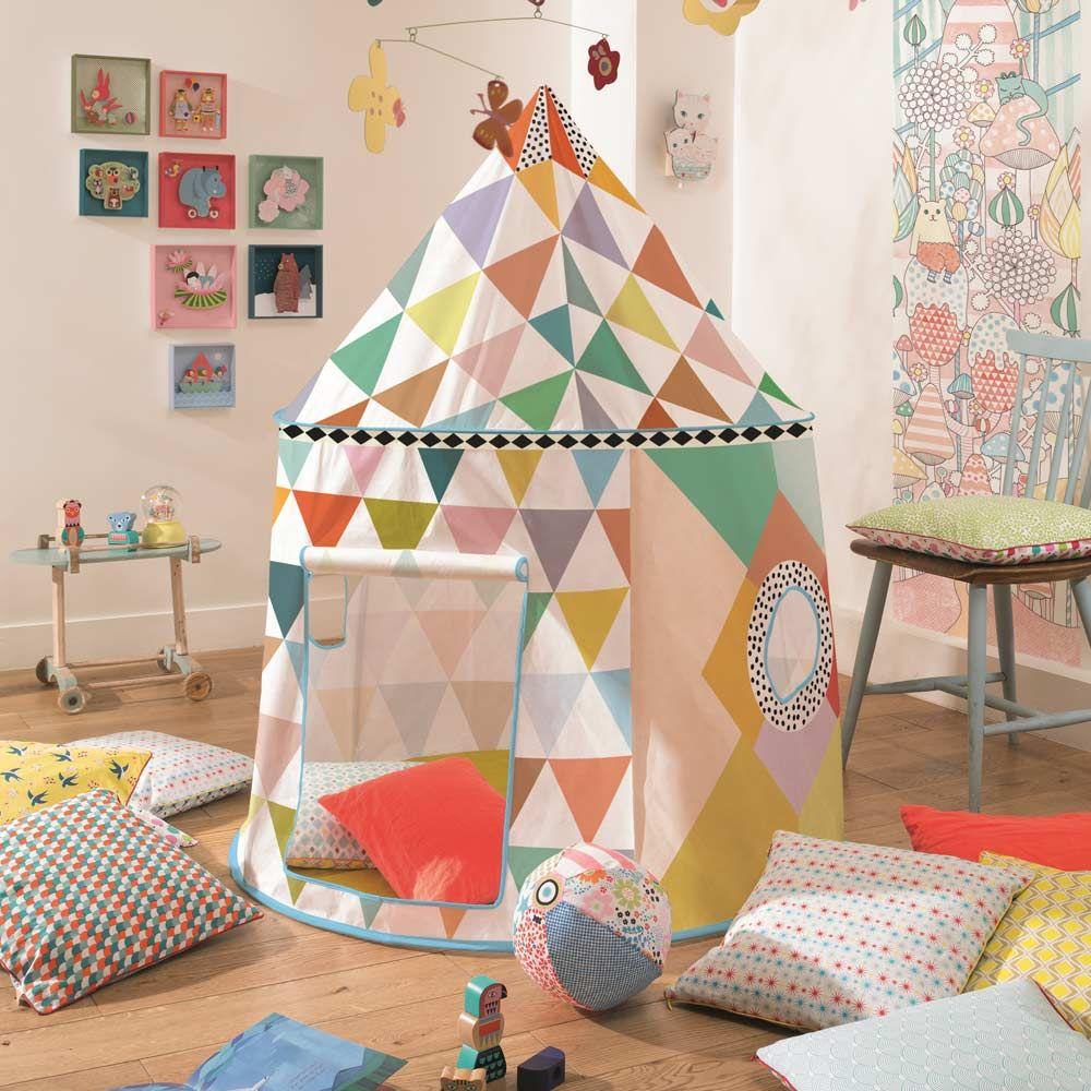 Décoration chambre enfant Cabane multicolore Djeco