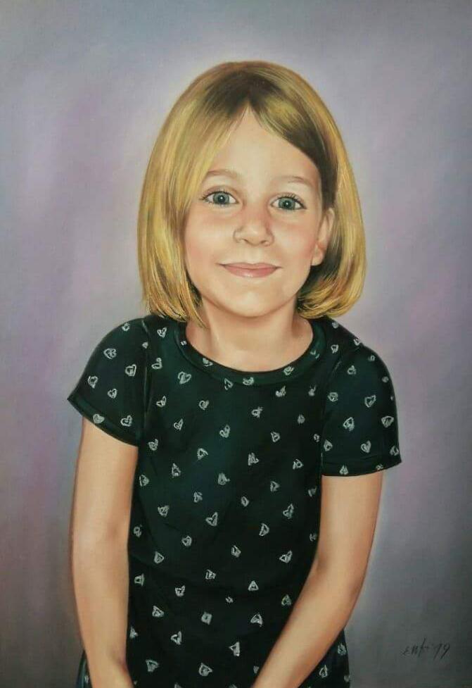 Kinder Portrait Pastell