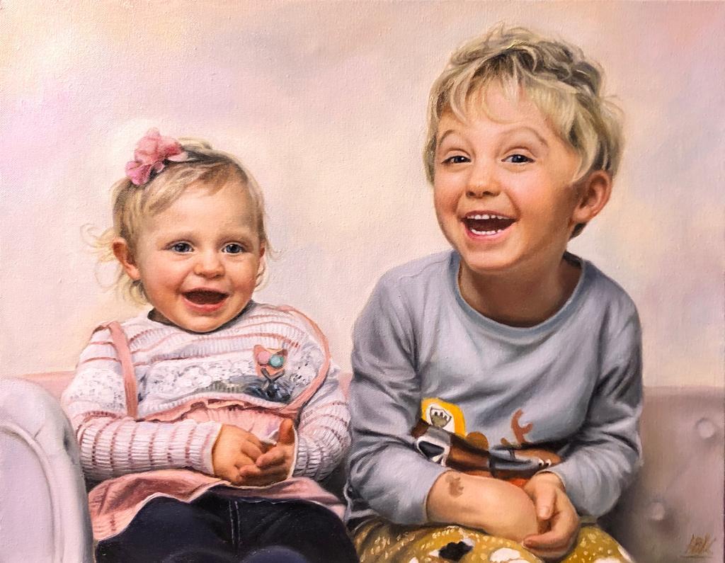 Kinder Portrait Ölgemälde