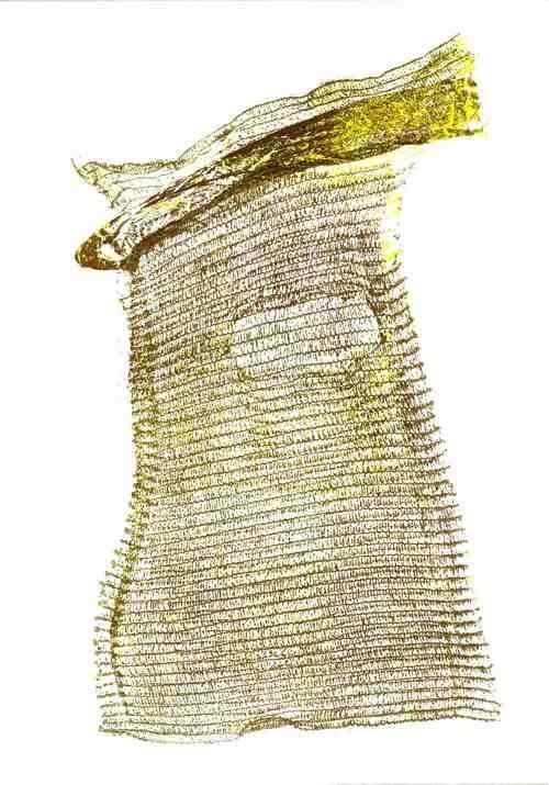 kartoffelsack - druck auf papier - 70 cm x 90 cm