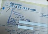 2016-10-14と入国日が記されたTMカード