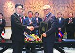 JICAとカンボジア政府の調印式