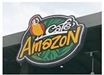 カフェ・アマゾンの看板