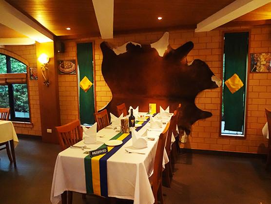 ブラジル料理店「ブラジリア Brazilia」の店内