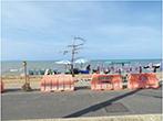 歩道整備が進むジョムティエンビーチ