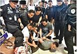 大物麻薬密売人が空港で捕まる