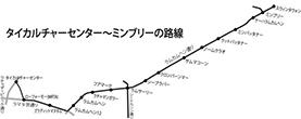 地下鉄オレンジラインの路線図