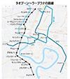 南パープルラインの路線予定図
