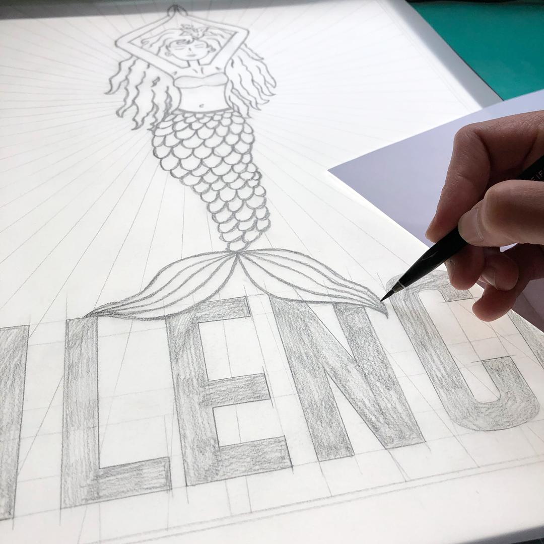 Gestaltung und Zeichnen der Hinterglasvergoldung