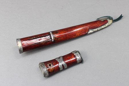 短刀拵え 剥がれ部分の塗り直し