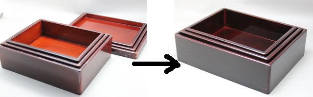 切り溜の漆塗り修理