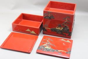 重箱の部分漆塗り修理