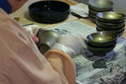 漆器の修理