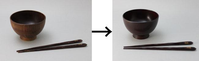 お椀とお箸の拭き漆修理