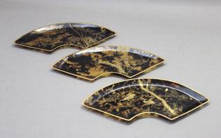 べっ甲皿の蒔絵復元