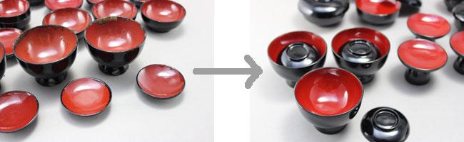 仏椀の漆塗り修理