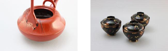 屠蘇器の銚子とお椀の修理