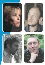 Valérie, Arnaud, Arnaud, et Thomas. L'équipe des formateurs