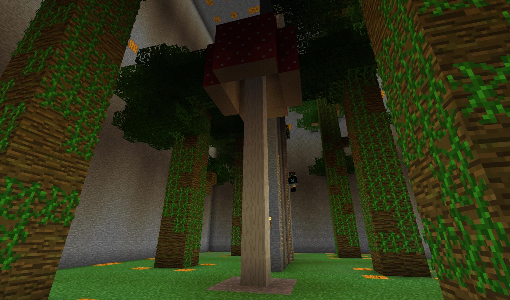 Defintiv ein Riesenpilz, so groß wie der daneben stehende Dschungelbaum
