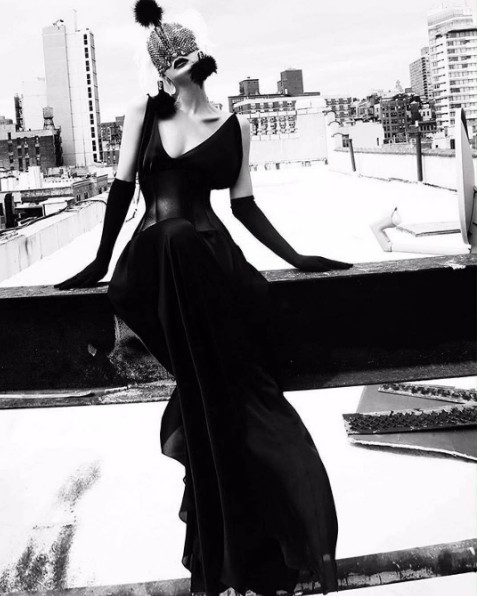 Xhesika Berberi stylist Kevin Kelly  Blair Berisha ph Fadil Berisha