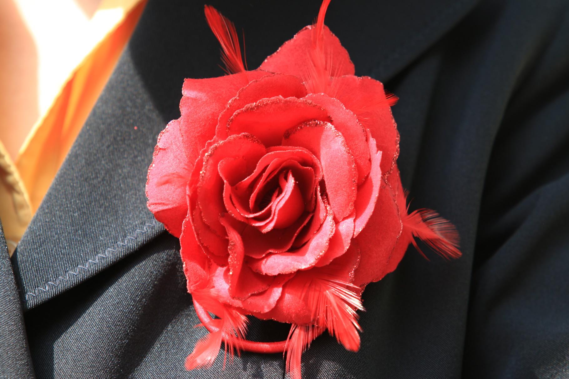 Rode en zwarte rokken