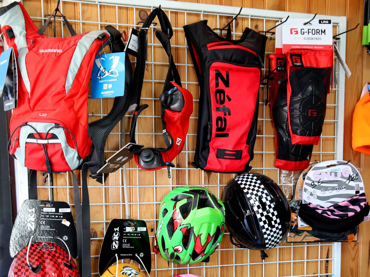 Protections coudes et genoux vélo