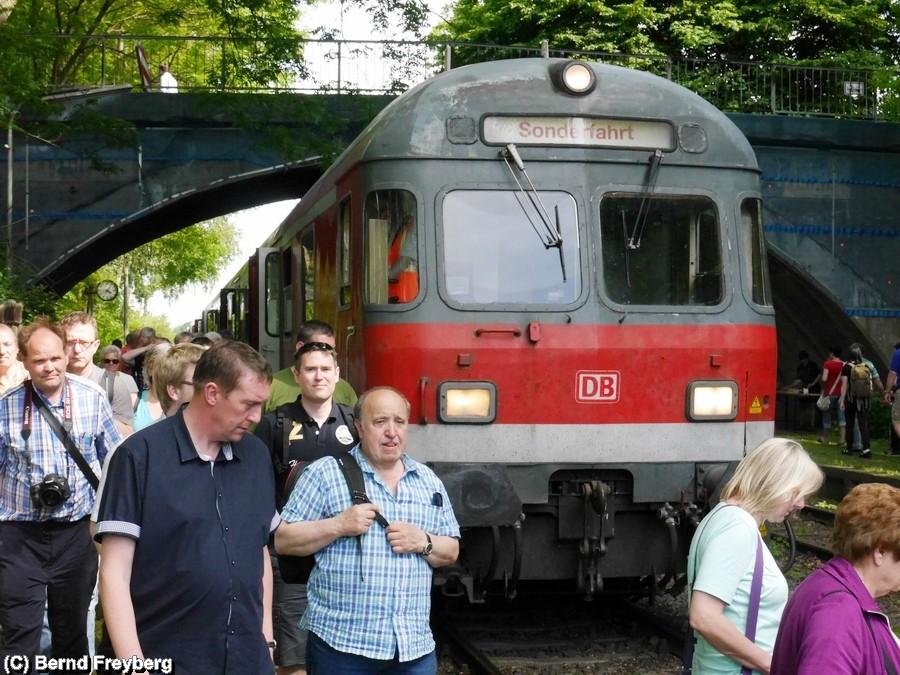Ohne die zahlreichen Fahrgäste hätte der Sonderzug nicht fahren können, vielen Dank an die Fahrgäste dafür