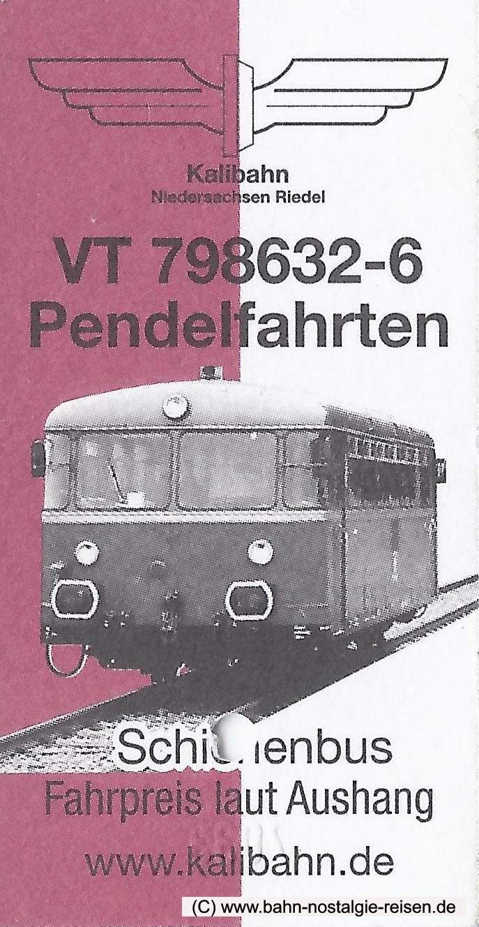 Die Fahrkarte für die Kalibahn