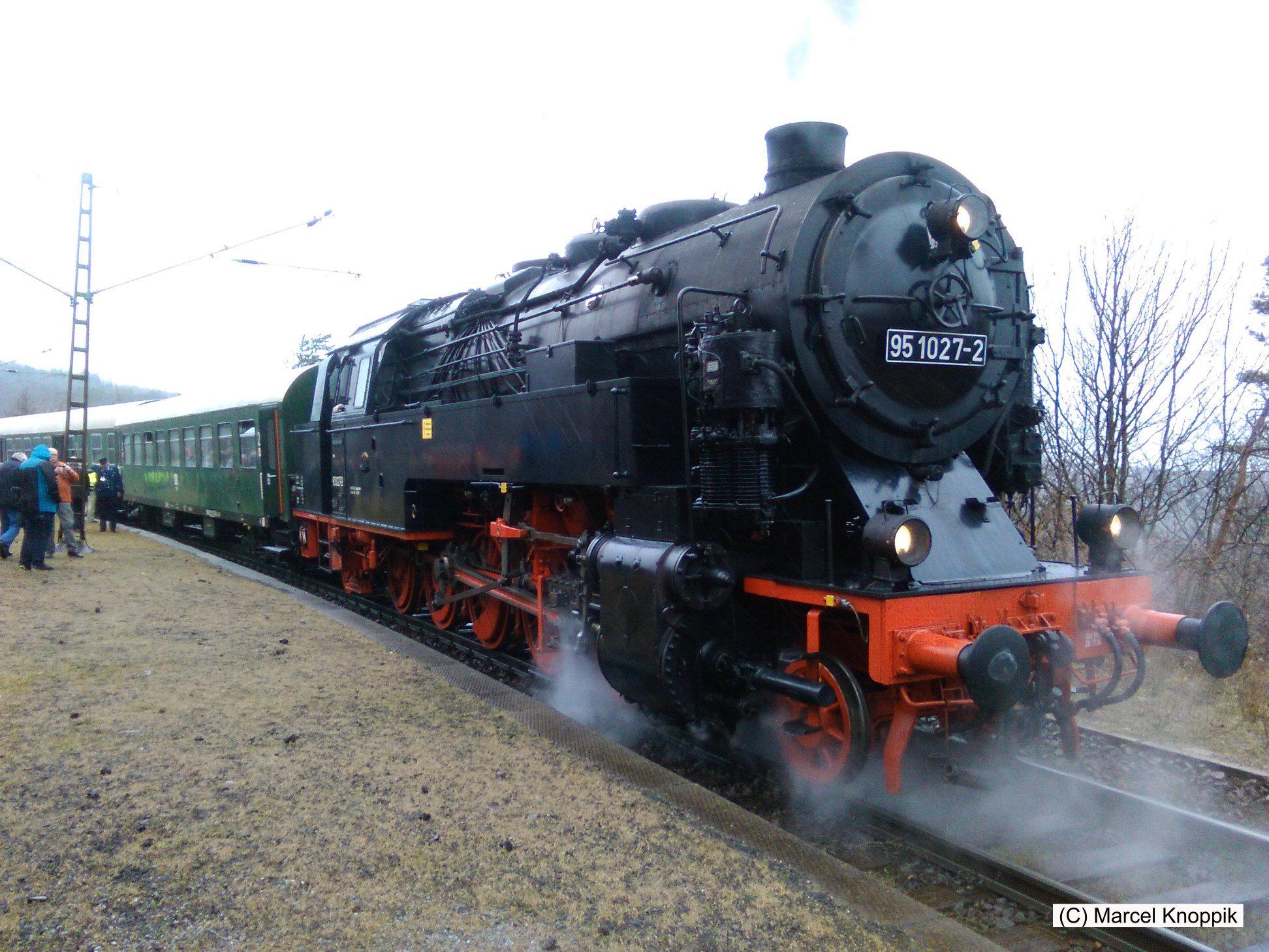 Bahnhof Michaelstein zum Umsetzen der Dampflok