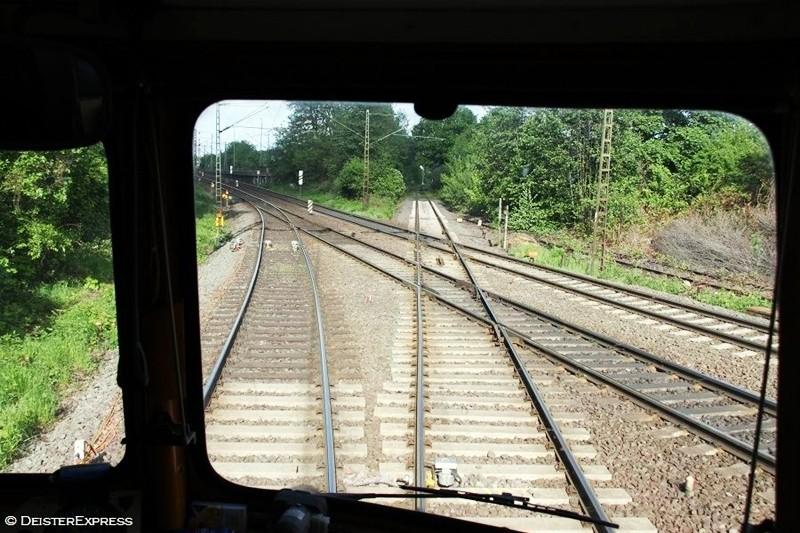 Braunschweig - Am Abzw Schmiedekamp verlassen wir die Hauptstrecke und biegen zum Rbf (Rangierbahnhof) ab