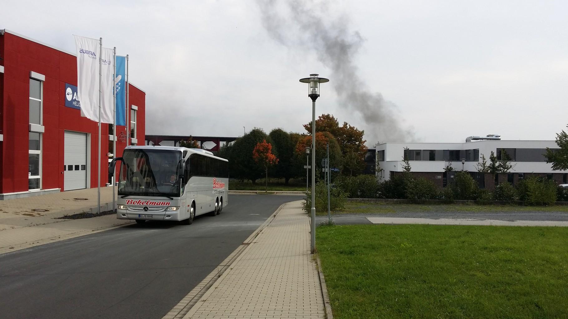 Ankunft vom Reisebus am Bahnhof Kassel-Wilhelmshöhe