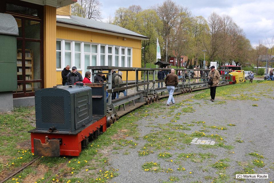 Sonderzug der Tagesförderbahn am ehemaligen Bahnhof Clausthal-Zellerfeld