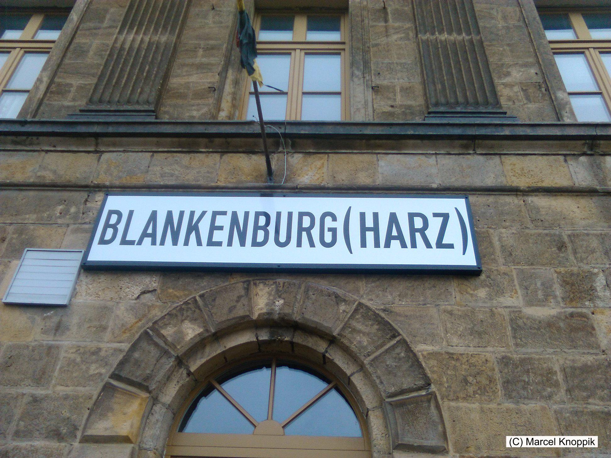 Bahnhof Blankenburg der Rübelandbahn