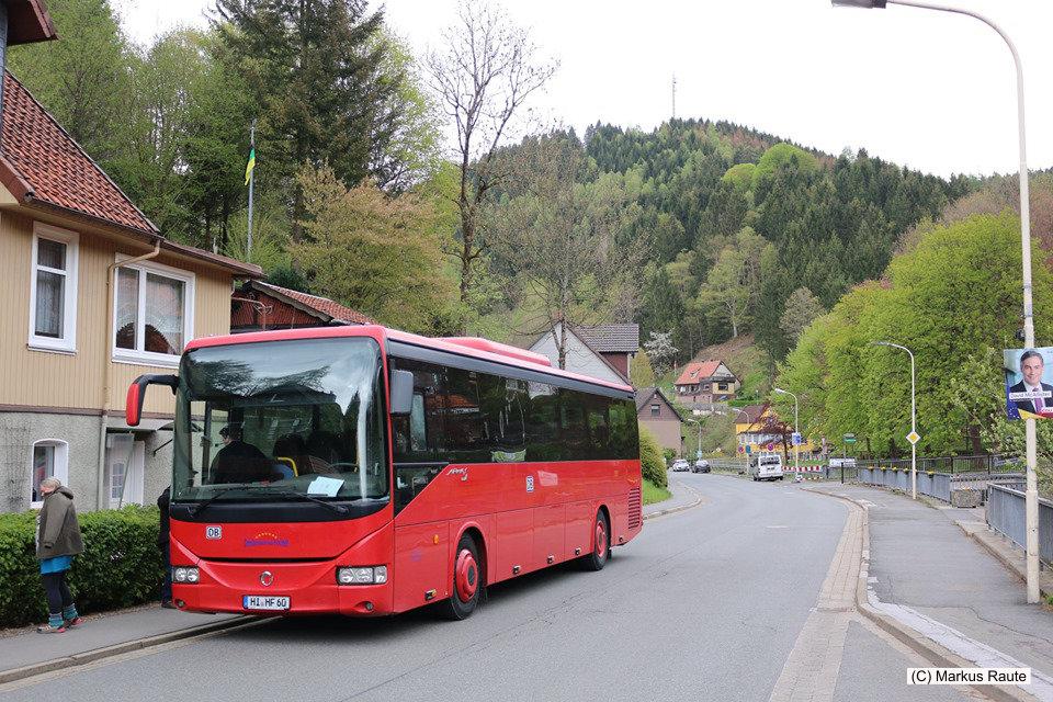Der Rote Bahnbus ist in Wildemann angekommen