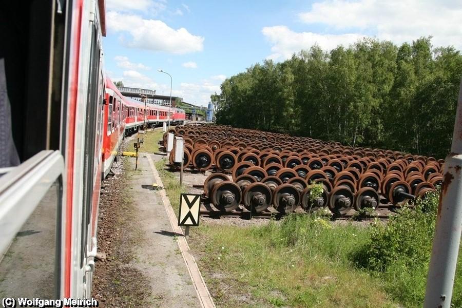 Der Stahlstadtexpress im Bahnbetriebswerk der Verkehrsbetriebe Peine Salzgitter