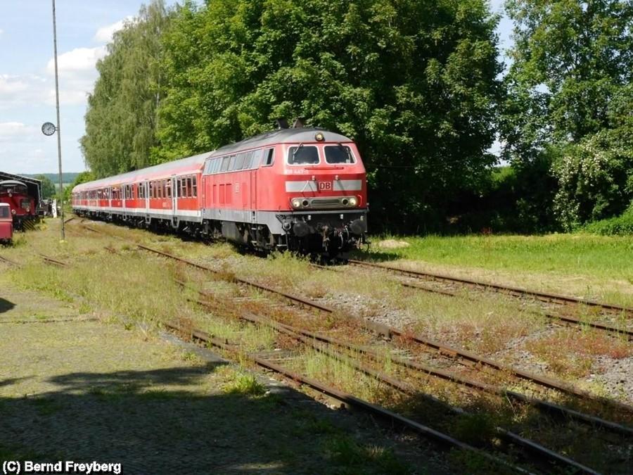 Einfahrt für den Regional Express von Salzgitter Bad kommend- in den Museumsbahnhof Klein Mahner