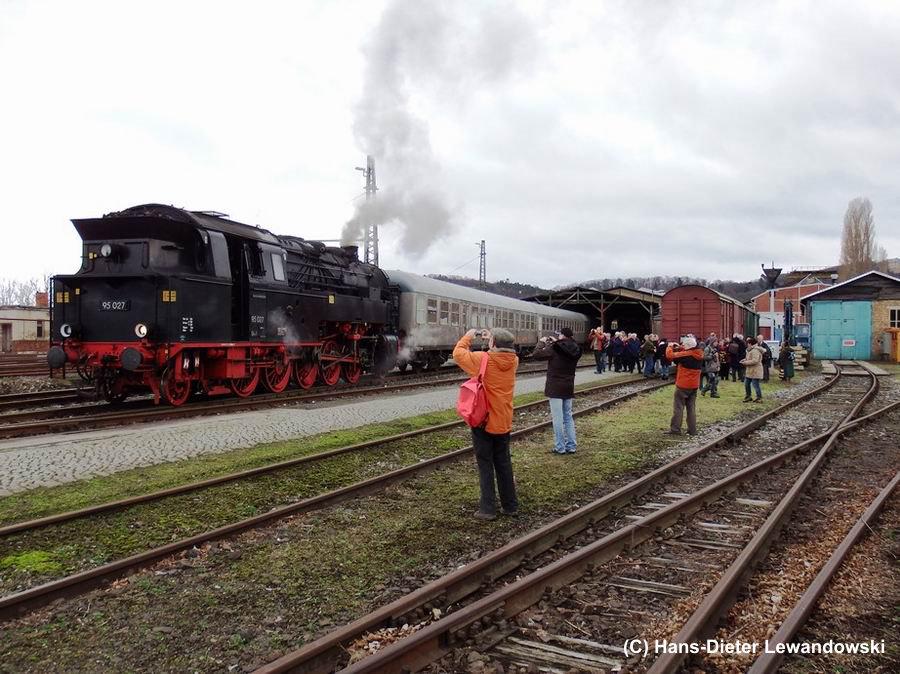 Fotografen im Bahnbetriebswerk Blankenburg
