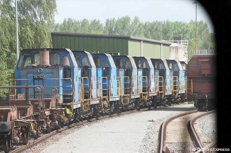 Abgestellte Loks der Reihen 500 und 700 in Hütte Süd