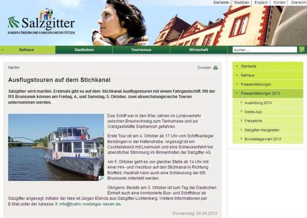 Veranstaltungskalender Stadt Salzgitter
