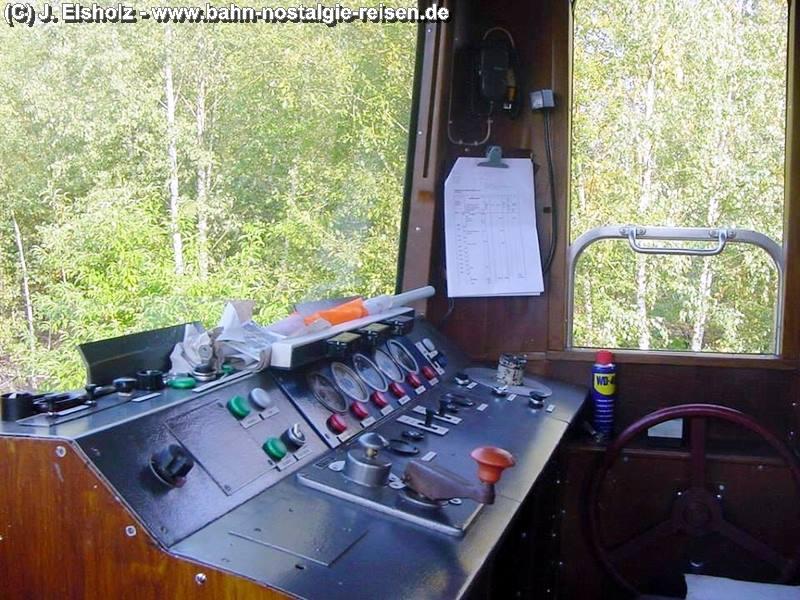 Fahrstand vom Esslinger Triebwagen