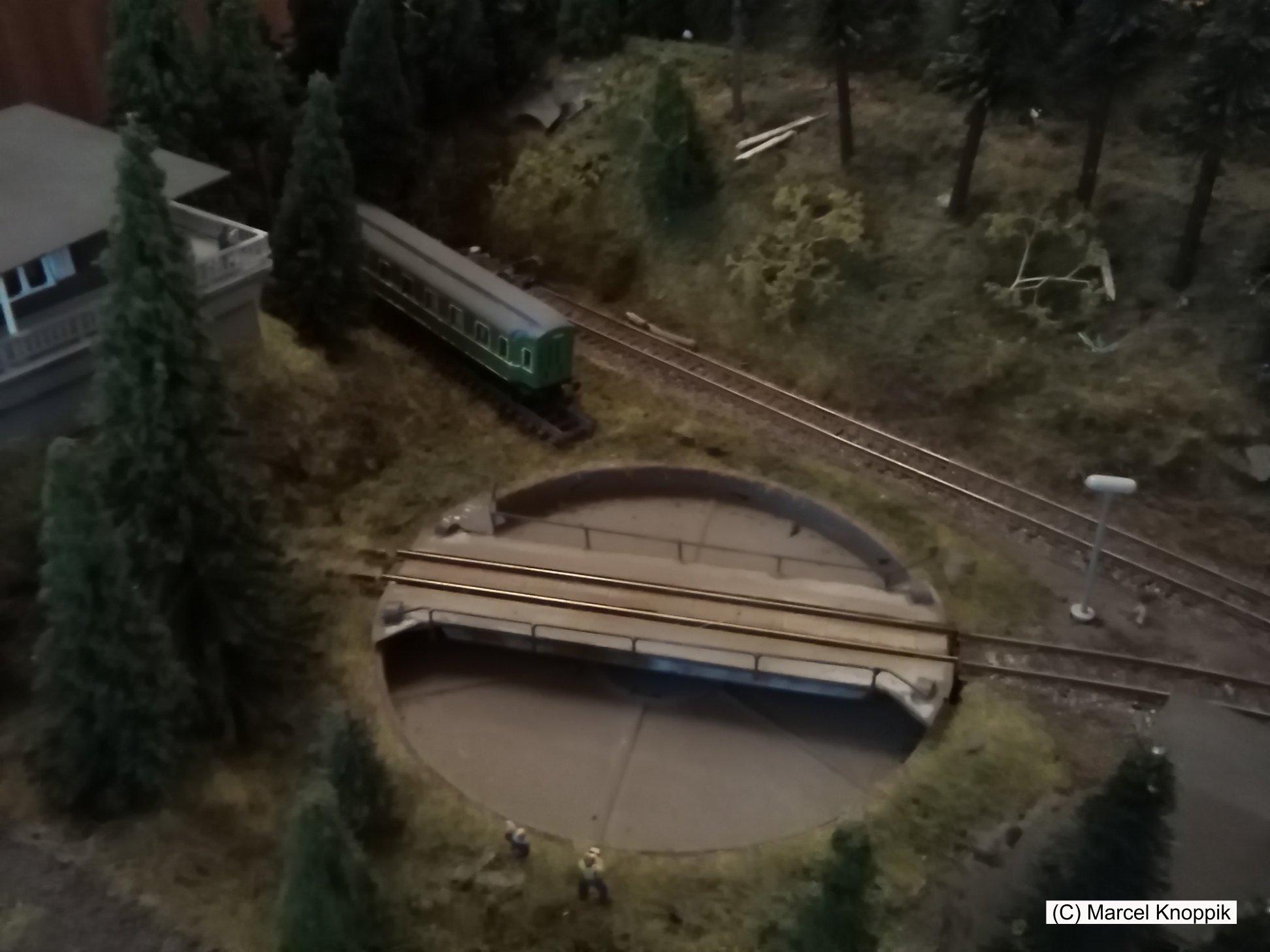 Modell vom Bahnhof Altenau