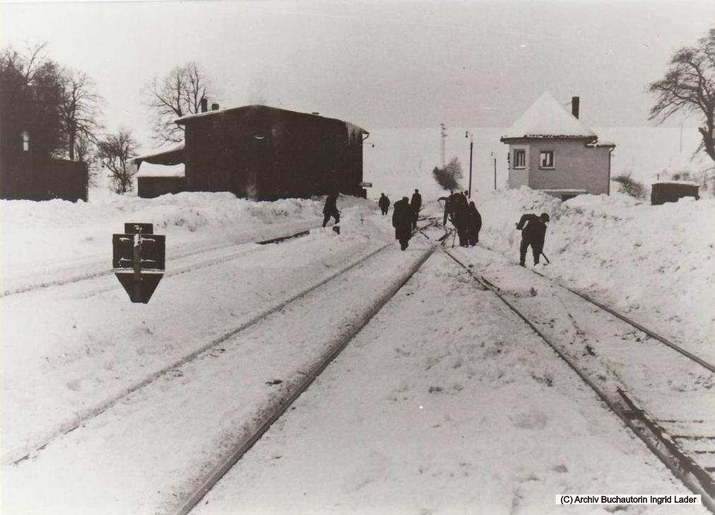 1969/70 DB Bahnhof Clausthal-Zellerfeld in Richtung Wildemann
