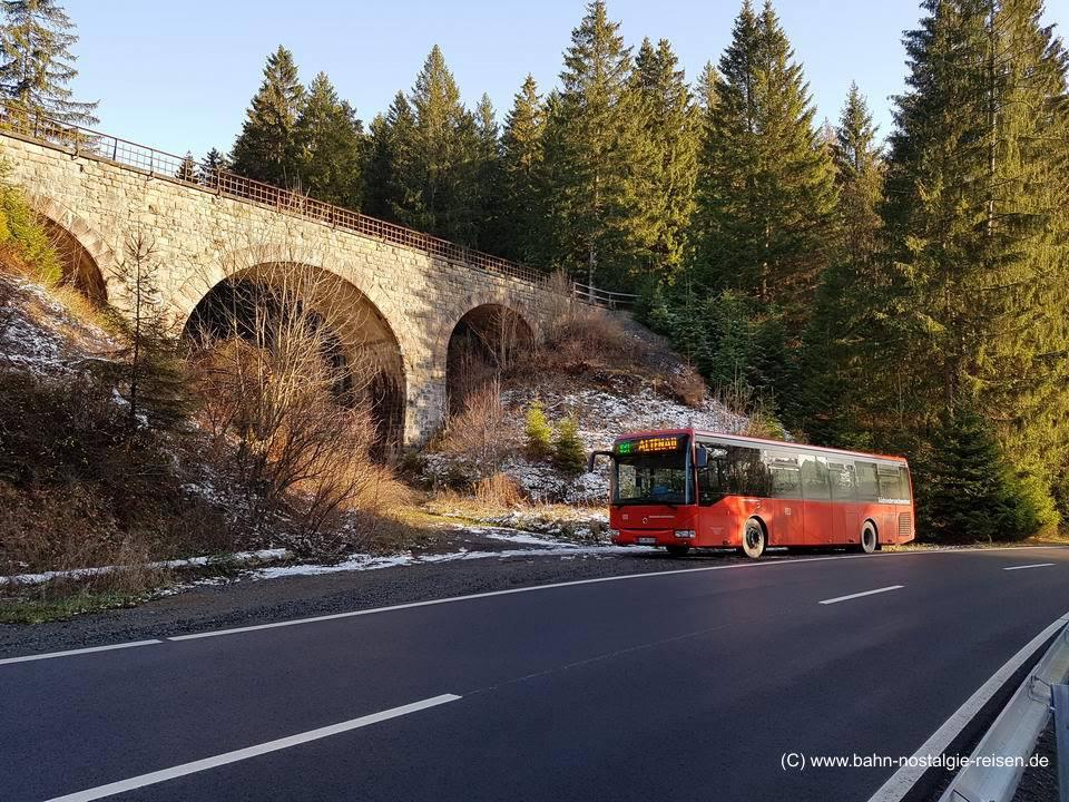 Mit dem Roten Bahnbus auf Spuren der legendären Innerstetalbahn / Rückblick