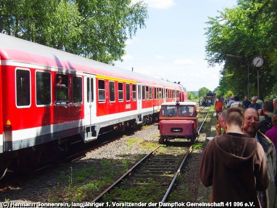 Bahnmeister - Motordraisine und der Stahlstadtexpress im Museumsbahnhof von Klein Mahner