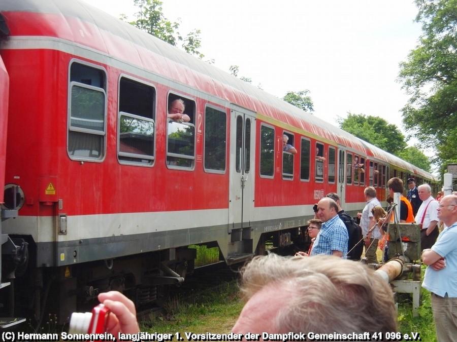 Fotoscheinanfahrt aus Börßum kommend am Haltepunkt Werlaburgdorf