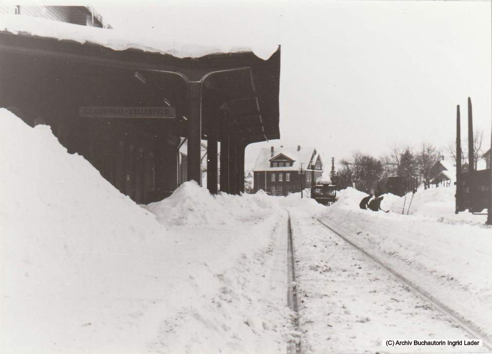 1969/70 DB Bahnhof Clausthal-Zellerfeld im Schnee