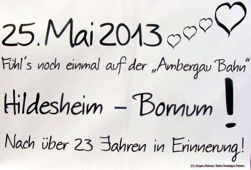 Nach 23 Jahren fährt unser Sonderzug zur Erinnerung auf der Ambergaubahn