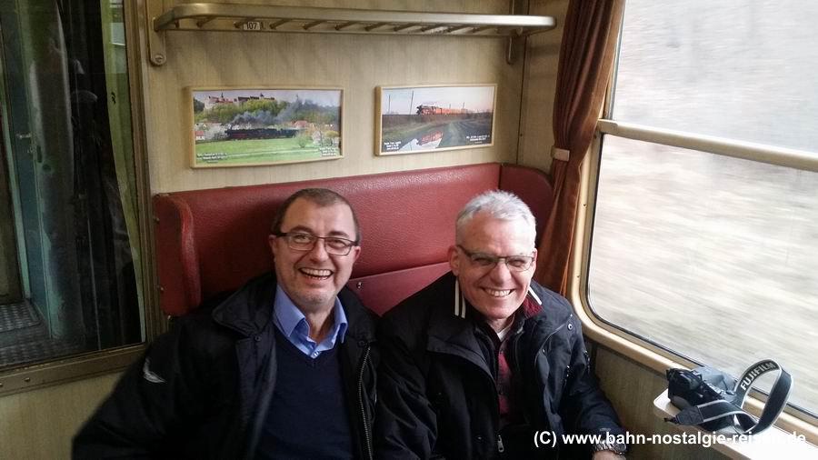Marcus und Dieter im n-Wagen (v.l.n.r.)