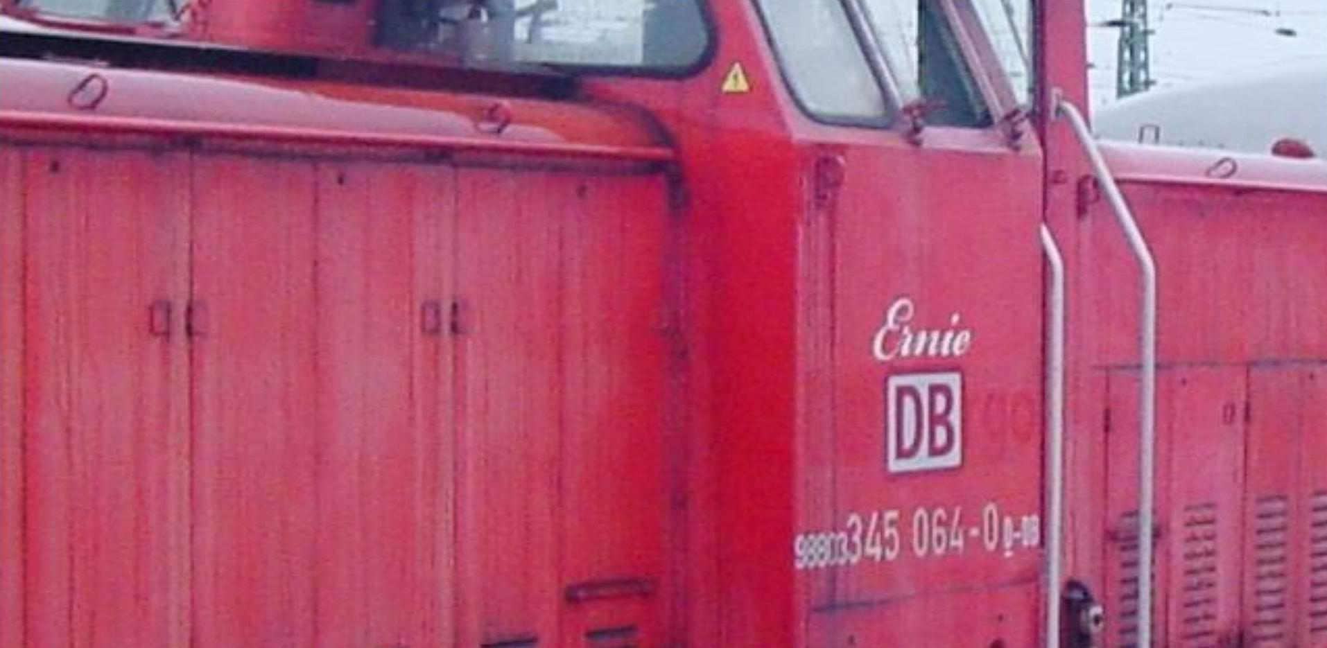"""Ehemalige Rangierlok """"Ernie"""" von """"DB Autozug Hildesheim"""""""